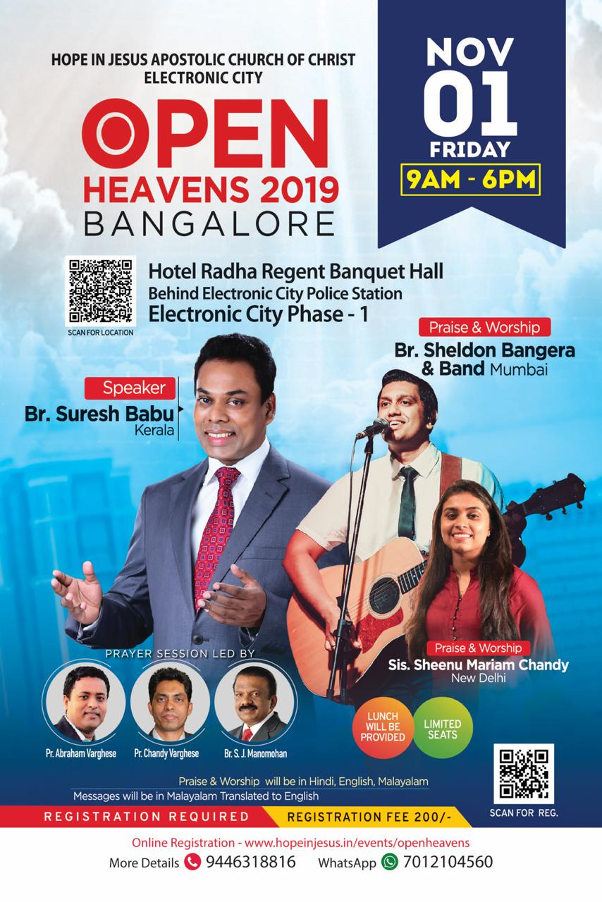 OPEN HEAVENS ONE DAY CONFERENCE IN BANGALORE